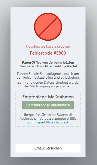 error code E800